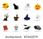 halloween friendly vector icon | Shutterstock .eps vector #87642079