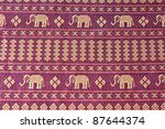 vintage traditional thai... | Shutterstock . vector #87644374