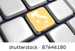keyboard  detail  with italy... | Shutterstock . vector #87646180