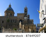 Famous Cathedral of Palermo in Sicily, Italy - stock photo