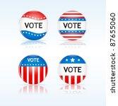 set of american  vote badges. | Shutterstock .eps vector #87655060