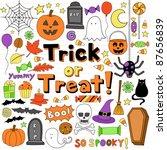 trick or treat halloween... | Shutterstock .eps vector #87656839