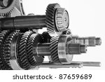 Car Gearbox On Isolated White...
