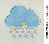 weather recycled papercraft on...   Shutterstock . vector #87663223