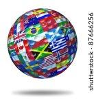 international golf tournament... | Shutterstock . vector #87666256