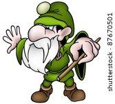 green dwarf   colored cartoon... | Shutterstock . vector #87670501