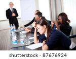 young businessman discussing... | Shutterstock . vector #87676924