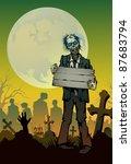 halloween background | Shutterstock .eps vector #87683794