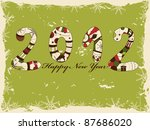 new year 2012 greeting card | Shutterstock .eps vector #87686020
