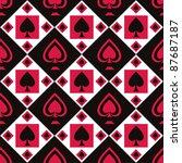 cute casino pattern | Shutterstock .eps vector #87687187