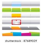 web navigation logo website... | Shutterstock .eps vector #87689029