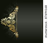 artistic flower golden... | Shutterstock .eps vector #87694168