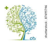 medical tree concept for your... | Shutterstock .eps vector #87695746
