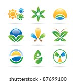 logo nature green eco world...   Shutterstock .eps vector #87699100