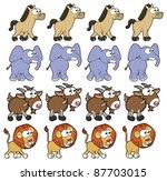 animal walking animations .... | Shutterstock .eps vector #87703015