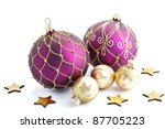 Christmas Baubles Isolated...