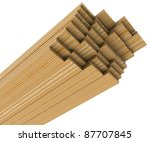 A Stack Of Pine Boards On A...