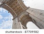arc de triomphe view from below | Shutterstock . vector #87709582