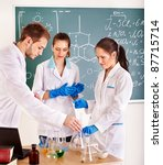 group chemistry student with... | Shutterstock . vector #87715714