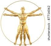 Vitruvian Man From Gold....