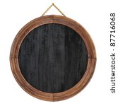 wooden picture frame. isolated...   Shutterstock . vector #87716068