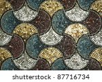 Abstract Mosaic Background See...