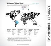 vector website design template... | Shutterstock .eps vector #87720376