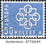 switzerland   circa 1959  a... | Shutterstock . vector #87720694