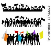 fun group with flags. | Shutterstock .eps vector #87722329