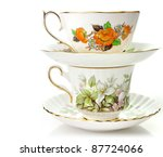 Two Vintage Coffee Or Tea Cups...