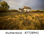 Abandoned Farmhouse At Sunset...