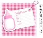 baby girl bottle shower... | Shutterstock .eps vector #87733525