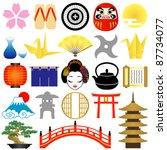 japanese icons   Shutterstock .eps vector #87734077