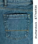 A Denium Blue Jean Pocket Shot...
