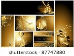 gold merry christmas background ... | Shutterstock .eps vector #87747880