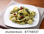 pasta with broccoli | Shutterstock . vector #87748537