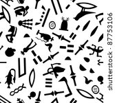 egyptian seamless hieroglyphs... | Shutterstock .eps vector #87753106