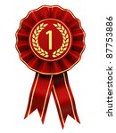 first place winner   red and... | Shutterstock . vector #87753886