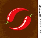 retro illustration of two chili ...   Shutterstock .eps vector #87759631