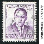 morocco   circa 1962 stamp... | Shutterstock . vector #87764179