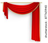 theater stage  with red curtain.... | Shutterstock .eps vector #87765940