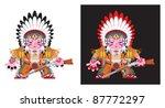 american indian figure  vector   Shutterstock .eps vector #87772297