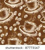 coffee seamless pattern | Shutterstock .eps vector #87773167