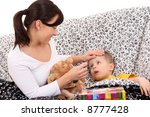 4 years old boy and his mother  ...   Shutterstock . vector #8777428