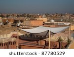 Roofs of Marrakech, Morocco - stock photo