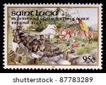 saint lucia   circa 1995  a 95... | Shutterstock . vector #87783289