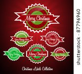 christmas labels collection   Shutterstock .eps vector #87796960