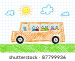 drawing of bus   Shutterstock .eps vector #87799936
