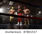 Three Masked Wrestlers Stand I...