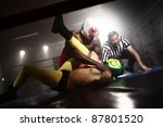 Masked Wrestlers And Referee I...